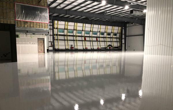 Airplane hangar Epoxy Floor Coating in Delta (20,000 SQ.FT)